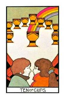 Ten of Hearts Tarot Card - Aquarian Tarot Deck