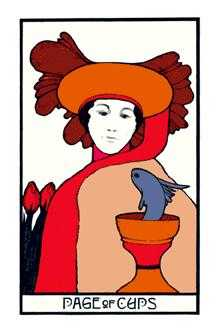 Daughter of Cups Tarot Card - Aquarian Tarot Deck