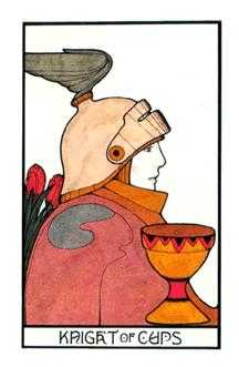 Knight of Hearts Tarot Card - Aquarian Tarot Deck