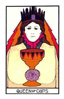 Queen of Hearts Tarot Card - Aquarian Tarot Deck