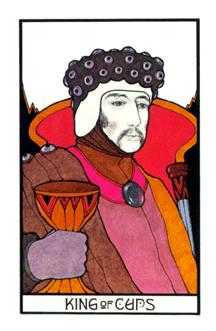 King of Hearts Tarot Card - Aquarian Tarot Deck