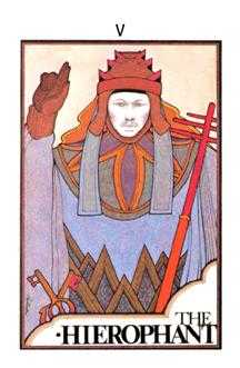 The Hierophant Tarot Card - Aquarian Tarot Deck