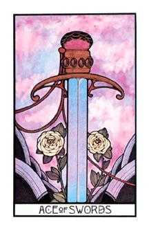 Ace of Swords Tarot Card - Aquarian Tarot Deck