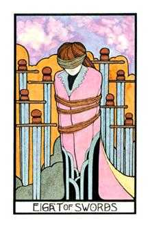 Eight of Swords Tarot Card - Aquarian Tarot Deck