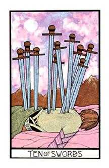 Ten of Arrows Tarot Card - Aquarian Tarot Deck