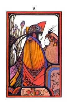 The Lovers Tarot Card - Aquarian Tarot Deck