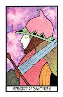 Cavalier of Swords Tarot Card - Aquarian Tarot Deck