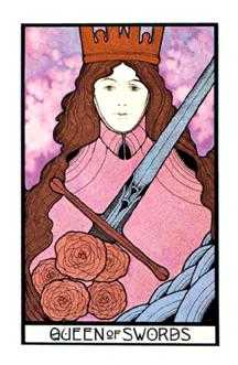 Queen of Swords Tarot Card - Aquarian Tarot Deck