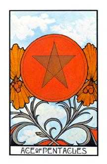 Ace of Pentacles Tarot Card - Aquarian Tarot Deck