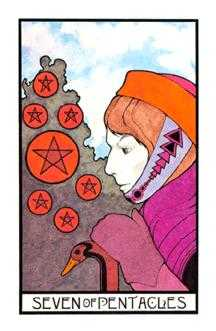 Seven of Earth Tarot Card - Aquarian Tarot Deck