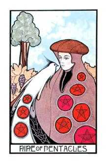 Nine of Pentacles Tarot Card - Aquarian Tarot Deck