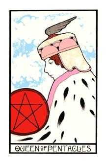 Queen of Coins Tarot Card - Aquarian Tarot Deck