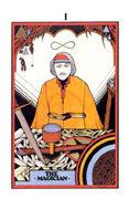 The Magician Tarot card in Aquarian deck