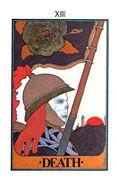 Death Tarot card in Aquarian deck