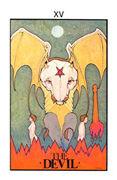 The Devil Tarot card in Aquarian deck
