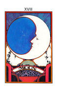 The Moon Tarot card in Aquarian deck