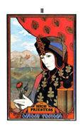 The High Priestess Tarot card in Aquarian deck
