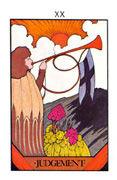 Judgement Tarot card in Aquarian deck