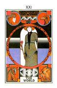 The World Tarot card in Aquarian Tarot deck