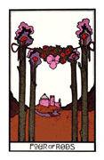 Four of Rods Tarot card in Aquarian deck