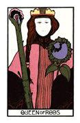 Queen of Rods Tarot card in Aquarian deck