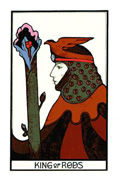 King of Rods Tarot card in Aquarian deck