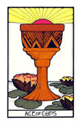 Ace of Cups Tarot card in Aquarian deck