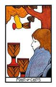 Four of Cups Tarot card in Aquarian Tarot deck