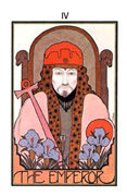 The Emperor Tarot card in Aquarian deck