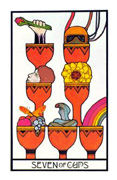 Seven of Cups Tarot card in Aquarian deck