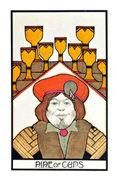 Nine of Cups Tarot card in Aquarian Tarot deck