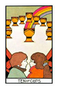 Ten of Cups Tarot card in Aquarian deck