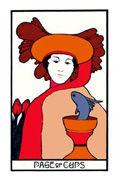 Page of Cups Tarot card in Aquarian Tarot deck