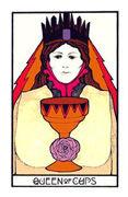 Queen of Cups Tarot card in Aquarian Tarot deck