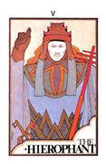 The Hierophant Tarot card in Aquarian deck