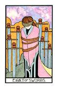 Eight of Swords Tarot card in Aquarian deck