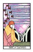 Nine of Swords Tarot card in Aquarian deck
