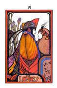 The Lovers Tarot card in Aquarian deck