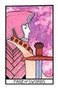 Page of Swords Tarot card in Aquarian deck