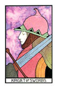 Knight of Swords Tarot card in Aquarian deck
