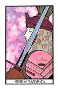 King of Swords Tarot card in Aquarian Tarot deck