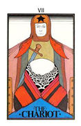 The Chariot Tarot card in Aquarian deck