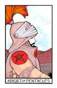 Knight of Coins Tarot card in Aquarian Tarot deck