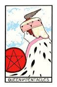 Queen of Coins Tarot card in Aquarian Tarot deck