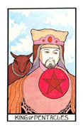 King of Coins Tarot card in Aquarian deck