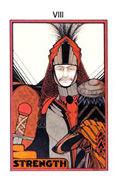 Strength Tarot card in Aquarian Tarot deck