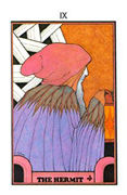 The Hermit Tarot card in Aquarian Tarot deck