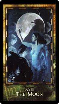 The Moon Tarot Card - Archeon Tarot Deck
