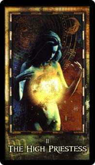 The High Priestess Tarot Card - Archeon Tarot Deck