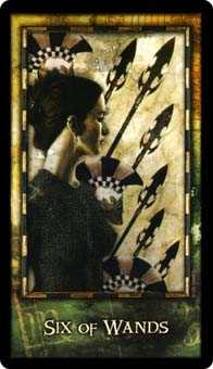 Six of Pipes Tarot Card - Archeon Tarot Deck